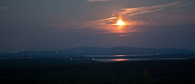 Full Moon Over Acadia I by Greg DeBeck