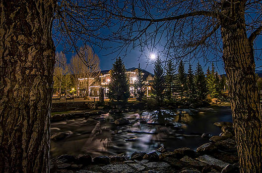 Full Moon over Breckenridge by Michael J Bauer