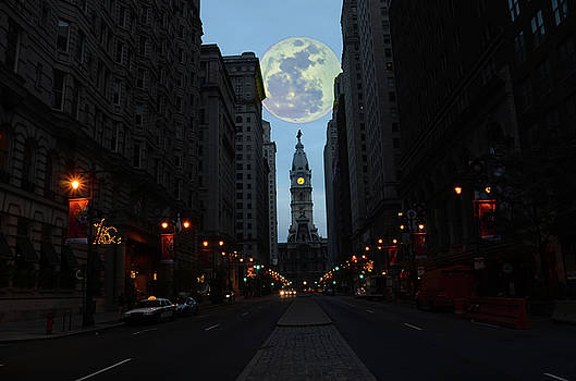 Full Moon over Broad Street by Bill Cannon