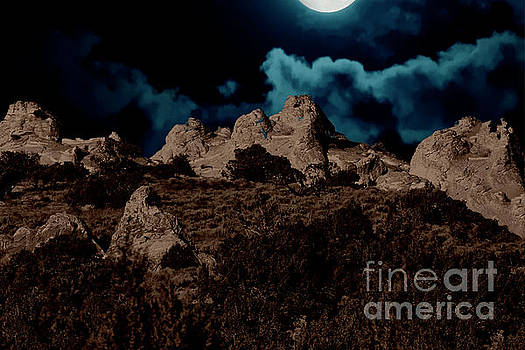 Full Moon Over White Pocket by Anne Rodkin