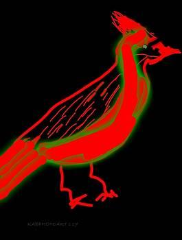 Funky Cardinal by Kathy Barney