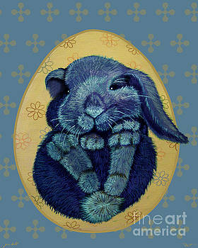 Furball in Blue by Dia T