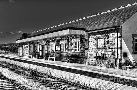 Steve Purnell - Furnace Sidings Railway Station Mono