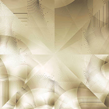 Futuristic Gold Abstract by Robert G Kernodle