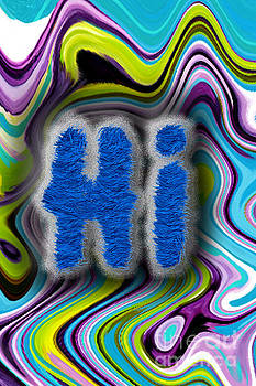 Fuzzy Blue Hi by Genevieve Esson