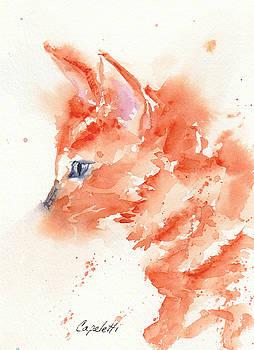 Fuzzy Orange Tabby Kitty by Barb Capeletti