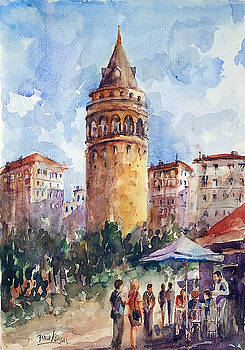 Galata Tower -Istanbul- by Faruk Koksal