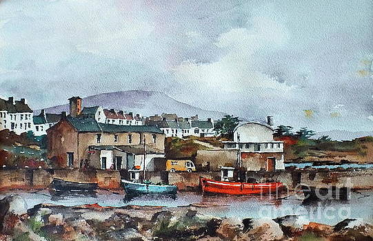 GALWAY.. Old harbour Roundstone by Val Byrne