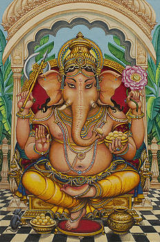Ganapati darshan by Vrindavan Das