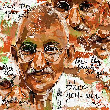 Gandhi Wins  by Sladjana Lazarevic