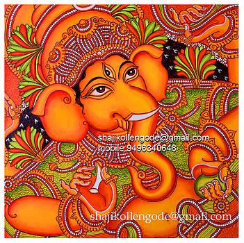 Ganesha Mural by Shaji Kollengode