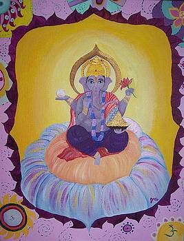 Ganesha Remover of obstacles by Jen Venuti