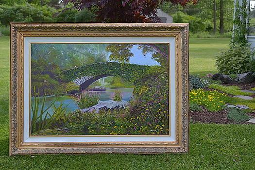 Gapstow Bridge in Central Park by Michael Mrozik