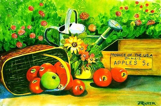 Garden Apples by Jane Ricker