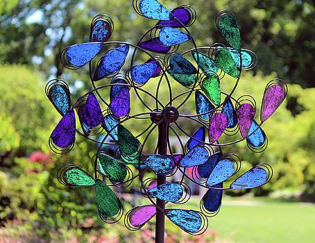 Garden Colored Fan by Cynthia Guinn