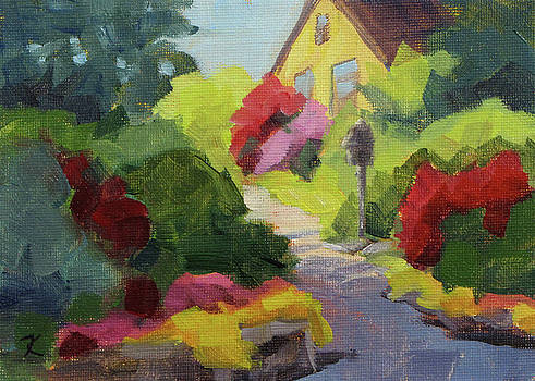 Garden Path - Daily Painting by Karen Ilari