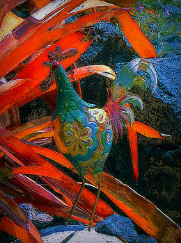 Garden Rooster by Lori Seaman