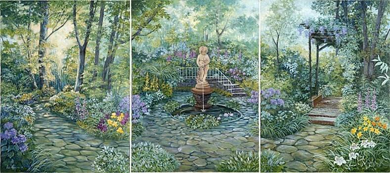 Garden Triptych by Lois Mountz