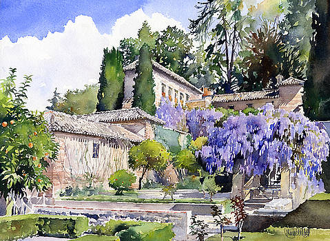 Gardens of the Generalife by Margaret Merry