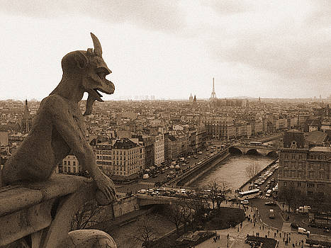 Gargoyle Looking Over Paris by Mark Currier