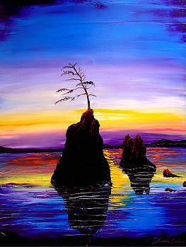 Garibaldi Beach At Sunset #6 by Portland Art Creations