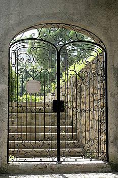Gate to Biblioteca S Francesco by Vicki Hone Smith