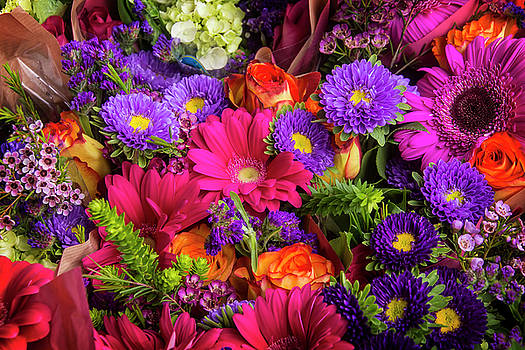 Gathered Garden Flowers by Garry Gay