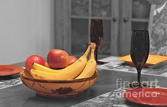 Gathering To The Table for Fruit and Wine by Sherry Hallemeier