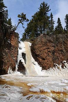 Gauthier Falls in March by Sandra Updyke