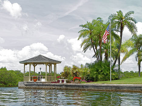 Gazebo on the Point by Sally Weigand
