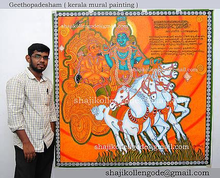 Geethopadesham- Kerala Mural Painting by Shaji Kollengode