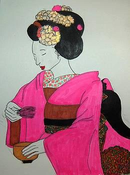 Geisha - Tea Ceremony I by Andrea Harston