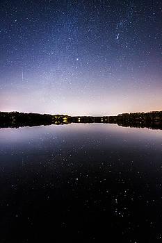 Geminid Meteor Reflection by Ryan Moore