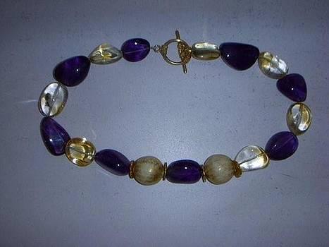 Gemstone Necklace by Antoinette DAndria Rumely