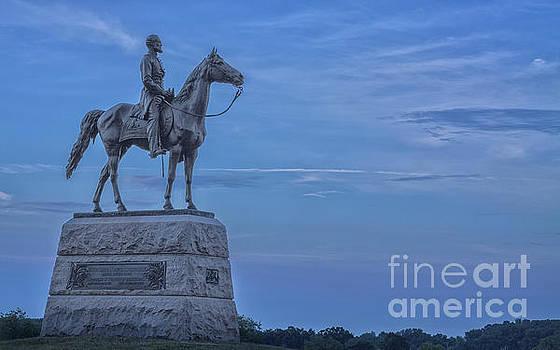 General Meade Monument Gettysburg Battlefield  by Randy Steele