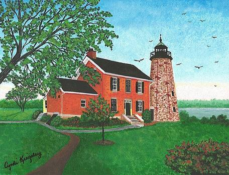 Genesee Lighthouse-Rochester-NY by Cyndi Kingsley