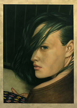 James W Johnson - Genevieve with Green Hair