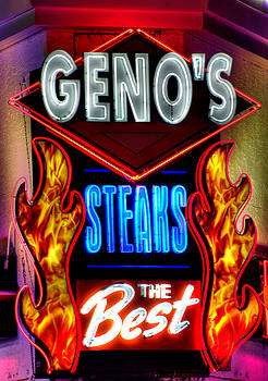 Geno's Steaks-3 Close - The Best - Ninth and Passyunk in South Philadelphia by Michael Mazaika