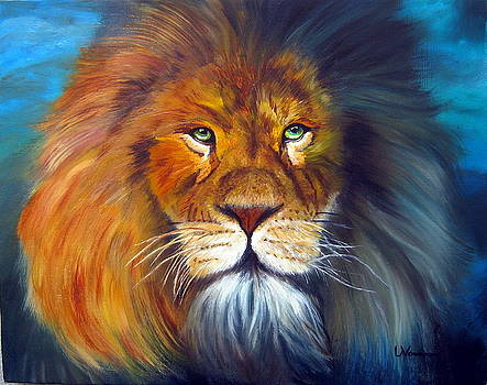 Gentle Lion King by LaVonne Hand