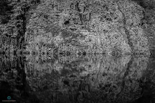 Geometries On A Mountain Lake by Cesare Bargiggia