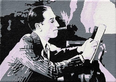 George Gershwin Composing by Sheri Parris