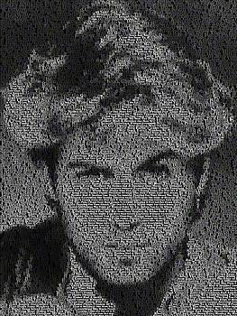 George Michael Song List Mosaic by Paul Van Scott