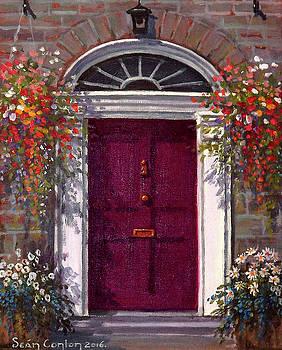 Georgian Door in Burgundy by Sean Conlon