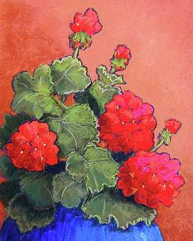 Geraniums by Candy Mayer