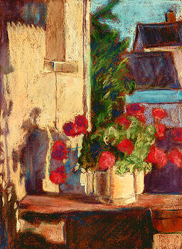 Geraniums in Burgundy by Judy Adamson