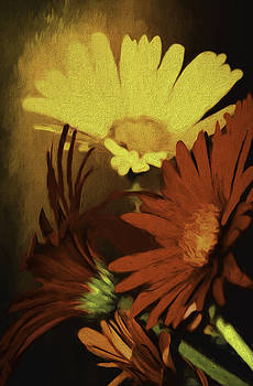 Gerbera Daisies Painterly by Diane Schuster
