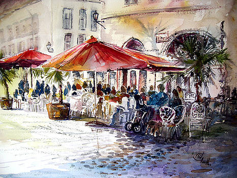 German Cafe by Shirley Roma Charlton