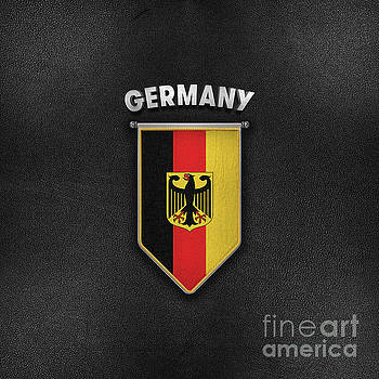 Germany Pennant with leather style background by Carsten Reisinger