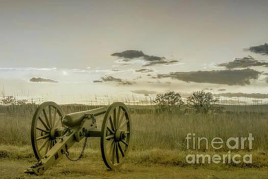 Gettysburg Cannon Civil War Toned by Randy Steele