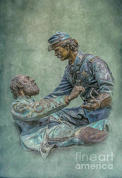 Gettysburg Friend to Friend Monument by Randy Steele